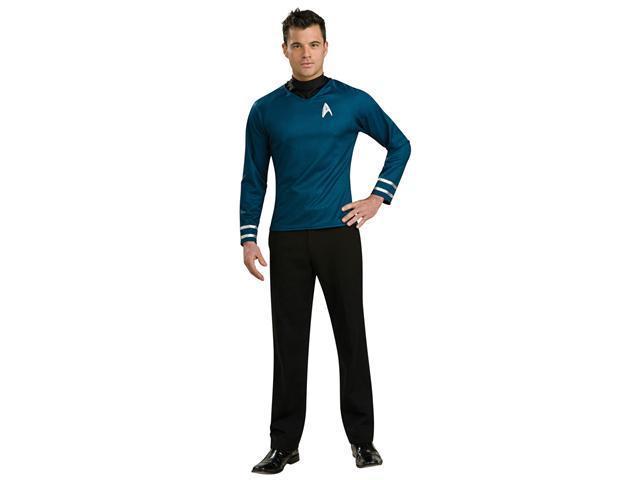 Deluxe Star Trek Blue Shirt Costume - Spock Star Trek Costumes