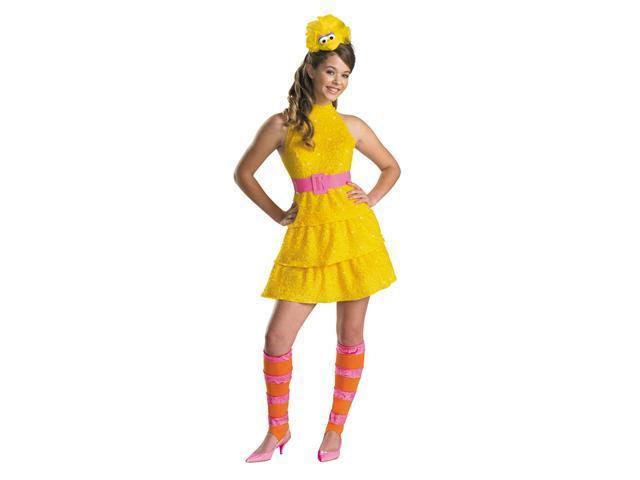 Tween Girls Big Bird Costume - Sesame Street Costumes