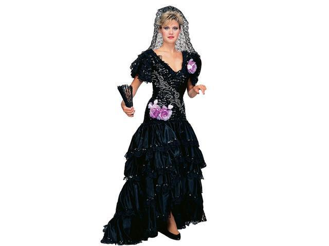 Adult Super Deluxe Black Spanish Beauty Costume - Mexican or Spanish Costumes