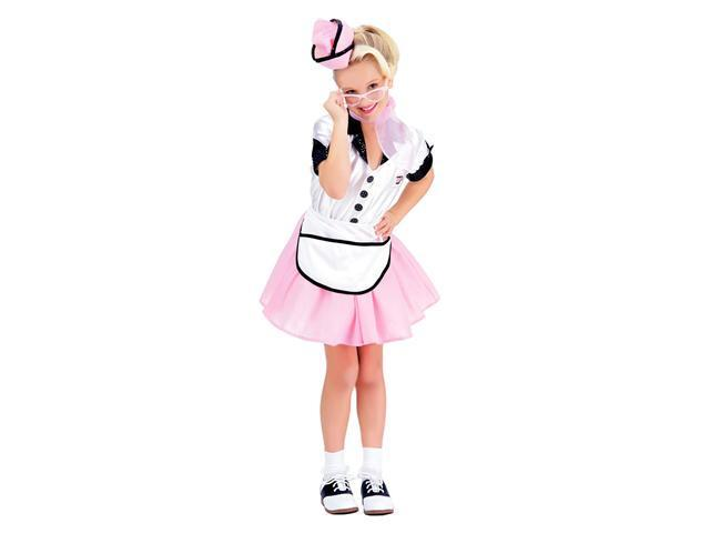 Girls Soda Pop Girl 50's Costume - Fifties Costumes
