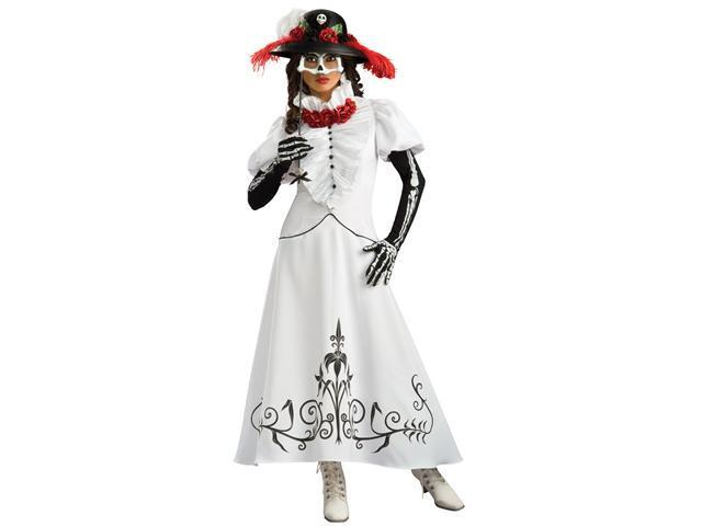 Super Deluxe Skeleton Bride Costume - Day Of The Dead Costumes