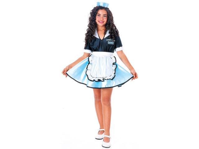 Girls Car Hop Girl 50's Costume - Fifties Costumes