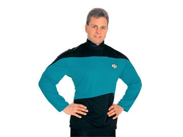Star Trek The Next Generation Uniform Shirt Costume (Blue) - Adult Star Trek Costumes