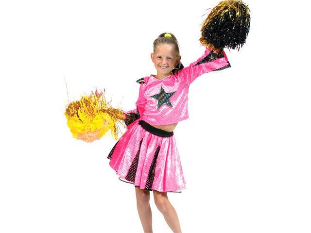 Pink Star Deluxe Cheerleader Costume - Cheerleader Costumes - Sexy
