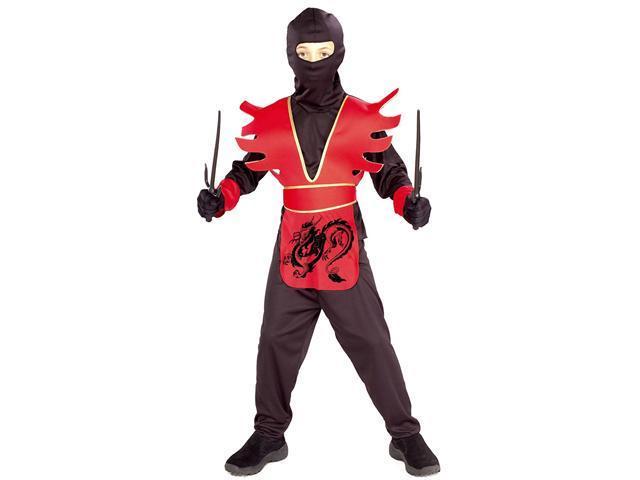 Kids Red Ninja Costume - Japanese Ninja Costumes