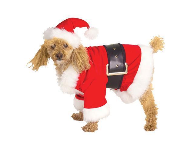 Velour Santa Dog Costume - Christmas Dog Costumes