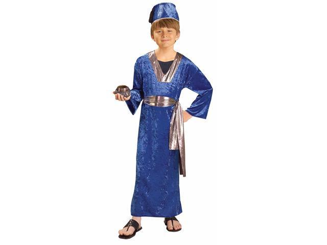 Kids Blue Wise Man Costume - Christmas Costumes