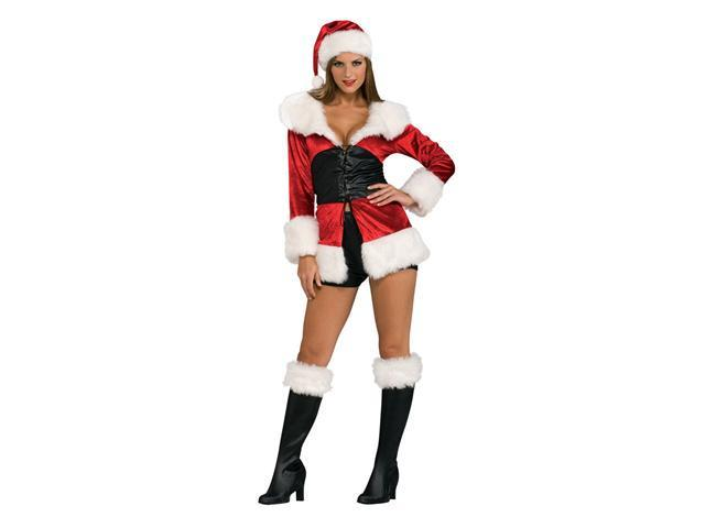 Deluxe Adult Lace Up Miss Santa Costume - Christmas Costumes - Sexy