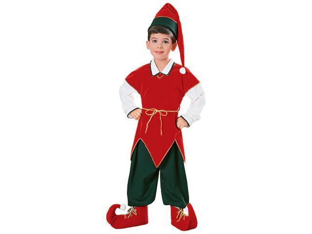 Velvet Child Elf Costume - Christmas Costumes for Children