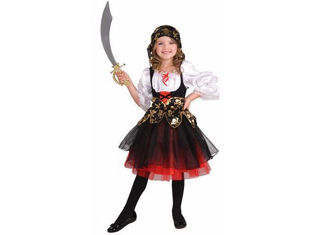 Girls Lil Pirates Treasure Costume - Girls Pirate Costumes