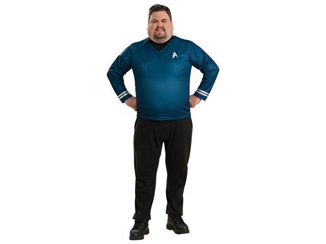 Plus Size Deluxe Blue Shirt Costume - Spock Star Trek Costumes