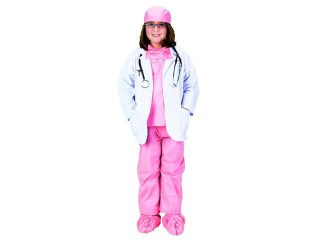 Complete Girls Pink Physician Costume - Girls Doctor Costumes