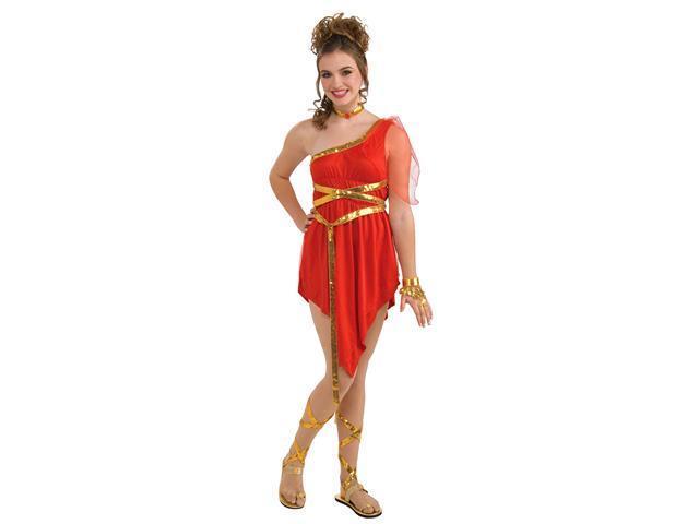 Girls Ruby Red Goddess Costume - Girls Greek Costumes