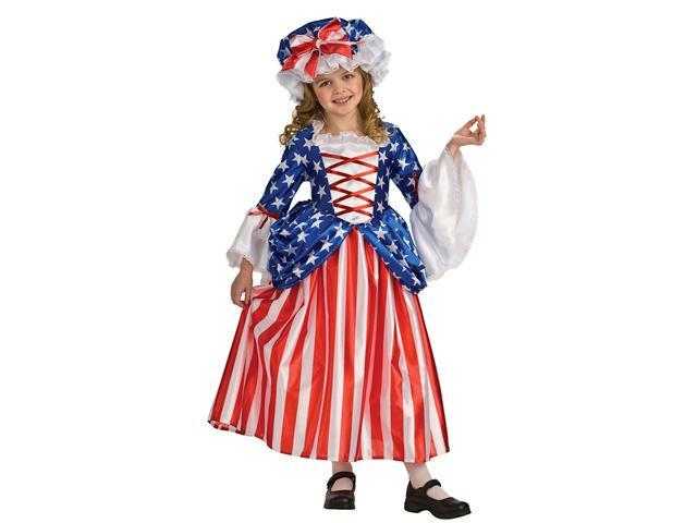 Girls Betsy Ross Costume - Girls Colonial Costumes