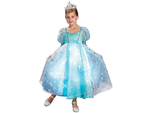 Girls Blue Liteup Princess Costume - Girls Princess Costumes