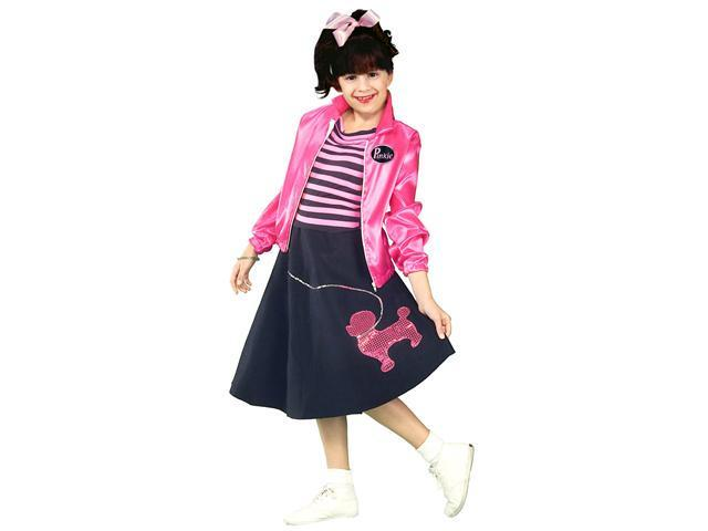Girls Poodle Skirt 50'S Costume - Girls Fifties Costumes