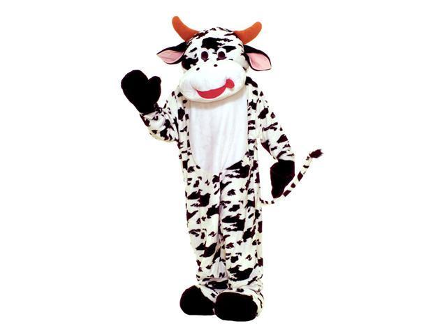 Deluxe Plush Cow Mascot Costume - Animal Costumes and Mascots