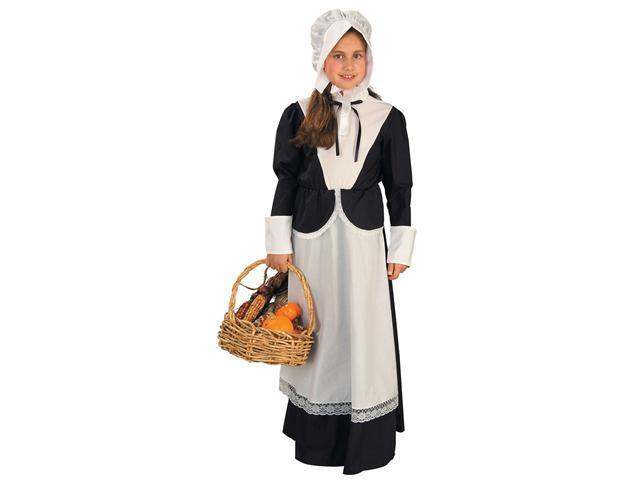 Girls Pilgrim Girl Costume - Girls Colonial Costumes