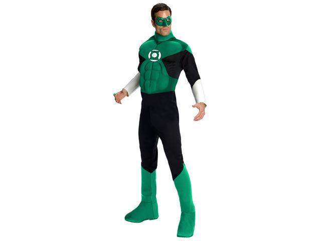 Deluxe Muscle Chest Green Lantern Costume - Superhero Costumes