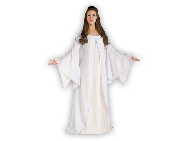 Deluxe Adult Arwen Dress Costume - Adult White Arwen Costume Dress