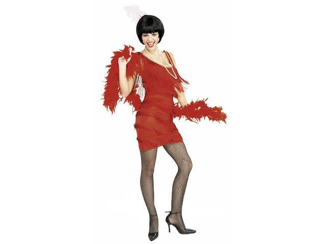 Adult Roaring Twenties Red Flapper Costume - Flapper Costumes - Sexy