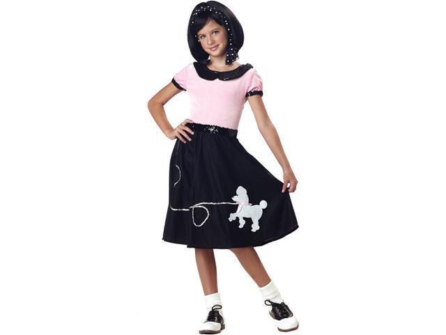 Girls Sock Hop Poodle Skirt 50s Costume - Fifties Costumes