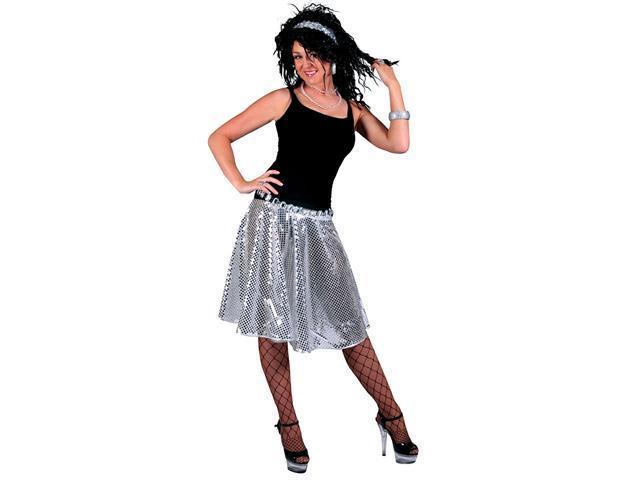 Silver Stardust Disco Costume Skirt - Disco Costumes