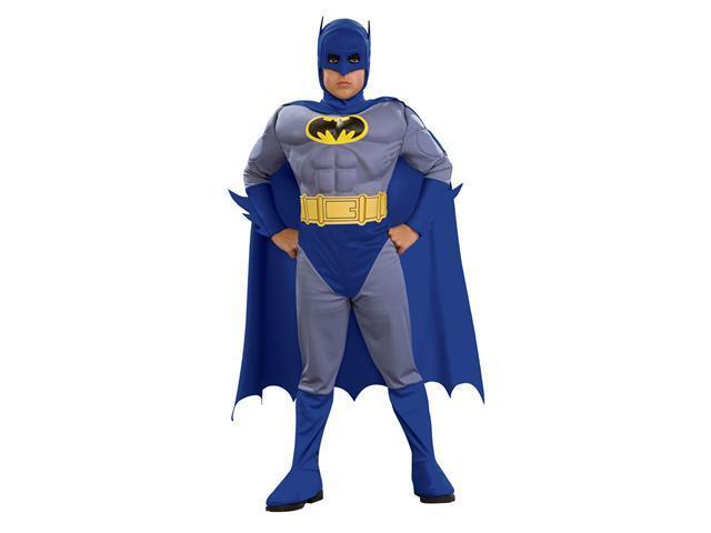 Deluxe Kids Muscle Chest Batman Costume - Batman Costumes