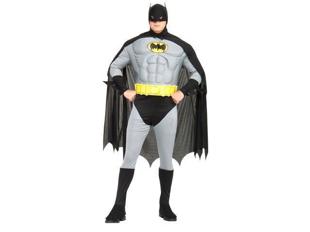 Plus Size Adult Batman with Muscle Chest - Batman Costumes