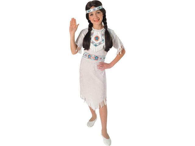 Girls White Indian Girl Costume - Native American Indian Costumes