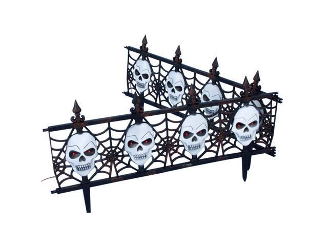 Gothic Skull Fence - Halloween Decorations