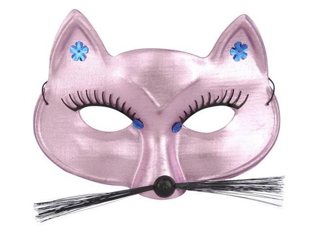 Pink Panther Half Mask with Gemstones - Mardi Gras Costumes