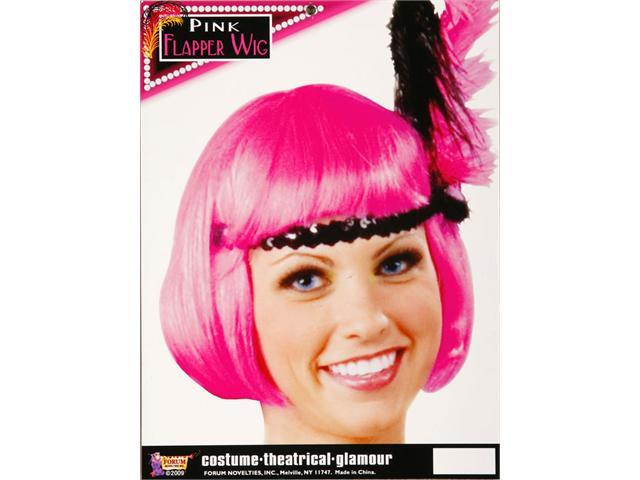 20's Pink Flapper Wig - Costume Wigs