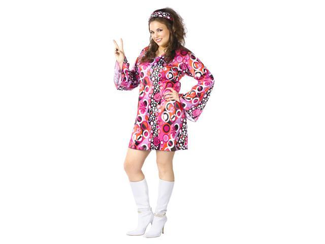 Feeling Groovy Plus Size Costume Hippie And Disco Costumes