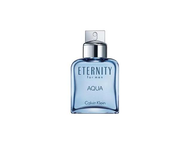 Eternity Aqua for Men by Calvin Klein Gift Set - 3.4 oz EDT Spray + 3.4 oz Aftershave Splash