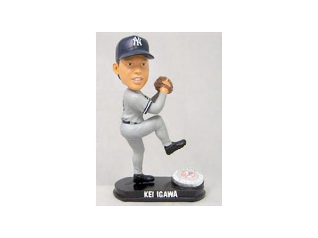 New York Yankees Kei Igawa Forever Collectibles Blatinum Bobble Head (Road)