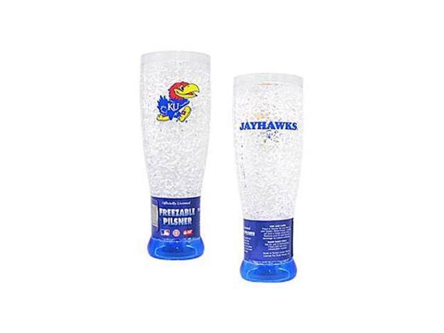 Kansas Jayhawks Crystal Pilsner Glass