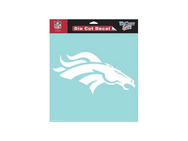 Denver Broncos Die-Cut Decal - White