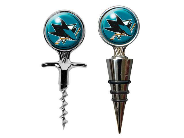 San Jose Sharks - NHL Cork Screw and Wine Bottle Topper Set