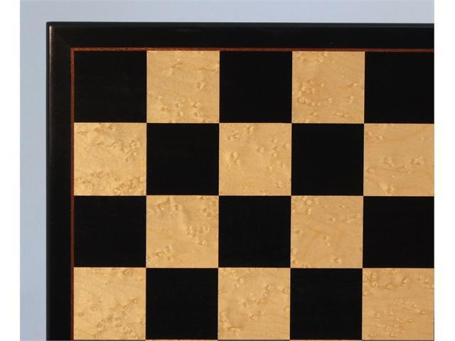 WW Chess 17-inch Black and Birdseye Maple Veneer Board