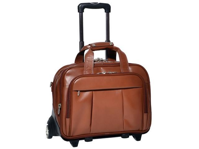 "McKlein Damen Leather 17"" Detachable-Wheeled Laptop Case - Brown"