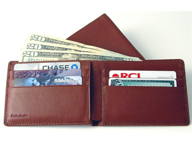 Budd Leather Cowhide Leather Slim Wallet with Passcase