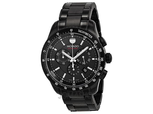 Movado Series 800 Chronograph Black PVD Stainless Steel Mens Watch 2600107
