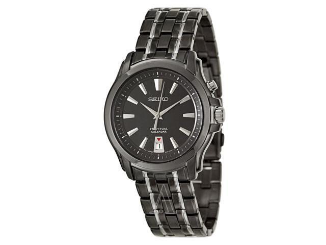 Seiko Perpetual Calendar Black Dial Men's watch #SNQ121