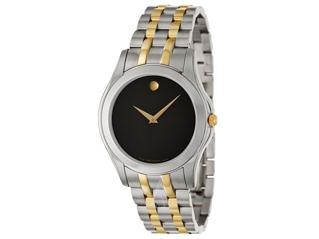 Movado 0605975 Corporate Exclusive Men's Black Dial Stainless Steel Analog Watch