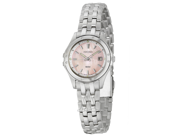 Seiko Le Grand Sport Pink Mother of Pearl Dial Steel Ladies Watch SXDC95