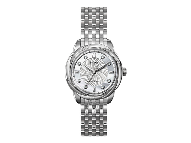 Bulova Precisionist Brightwater Women's Quartz Watch 96P125
