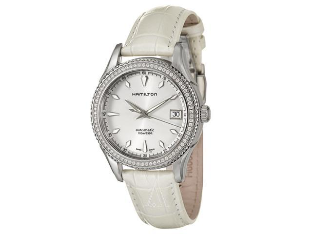 Hamilton Jazzmaster All White Leather Ladies Watch H37495811