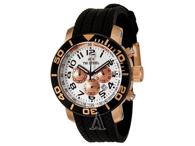 TW Steel Grandeur Diver 45 MM Rose Gold Plated Case Mens Watch TW76