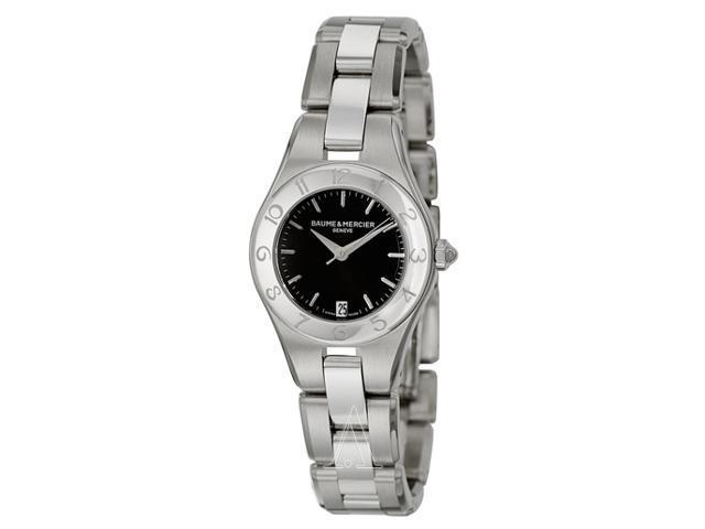 Baume and Mercier Linea Black Dial Ladies Watch 10010